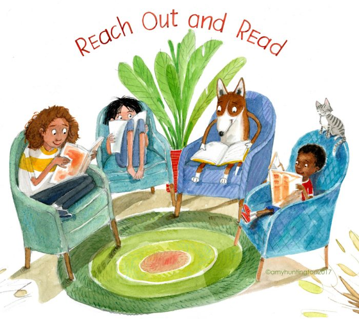 Illustration honoring Reach Out and Read, Carolinas